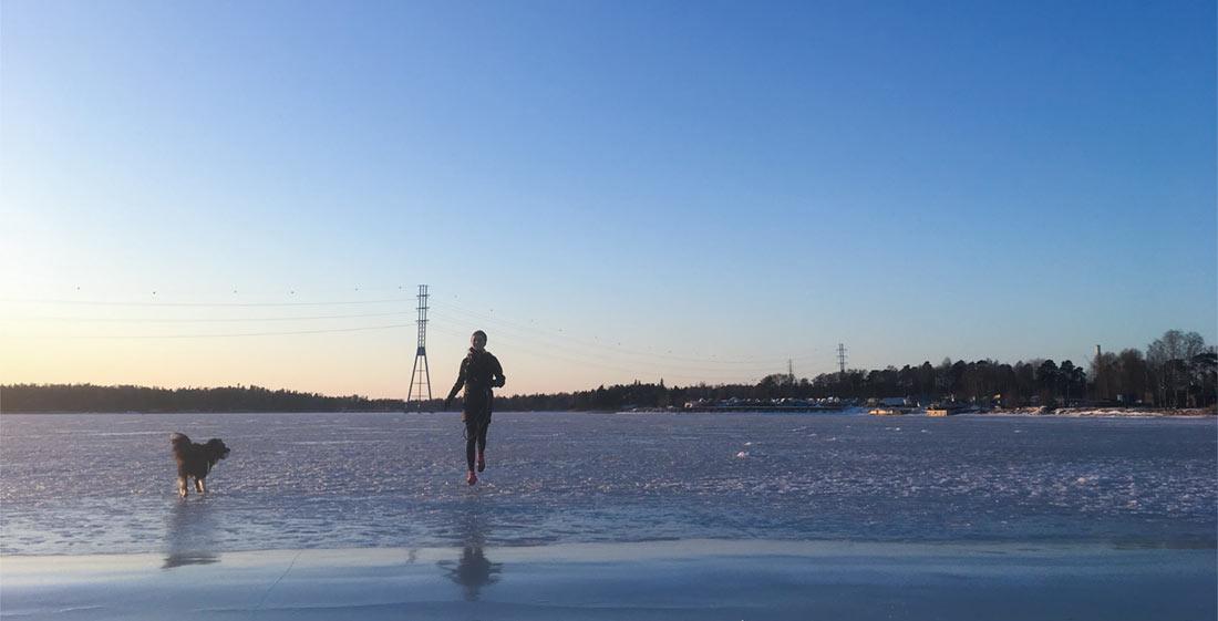 Juokseminen Talvella