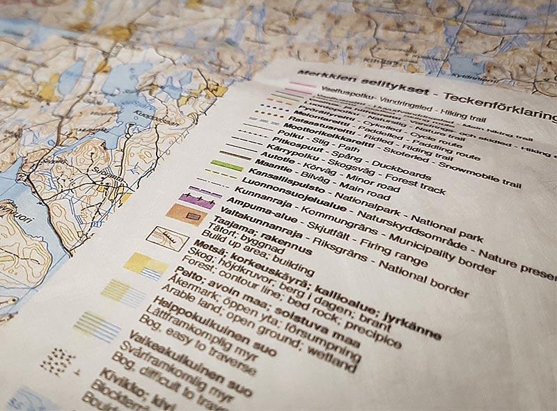 Karttamerkit Ja Luonto Retkeilykartalla Partioaitta